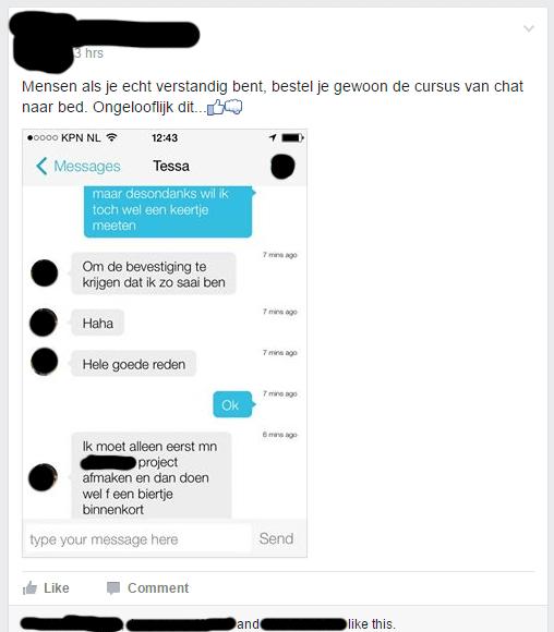 Mensen als je echt verstandig bent, bestel je gewoon de cursus van chat naar bed. Ongelooflijk dit.